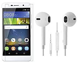 Mercator Tempered Glass and Earphone Combo for Honor Holly 2 Plus