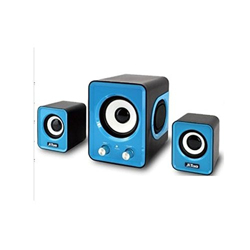 Hot Computer High Quality Small Speaker 2.1 Multimedia Mini Stereo Notebook Portable Usb Subwoofer Light Blue