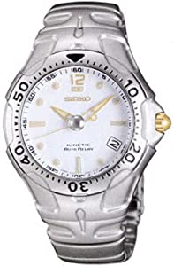 Stainless Steel Kinetic Auto Relay White Dial