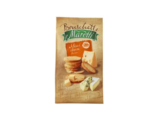 Maretti Bruschette Mixed Cheese Baked Bread Snack 70 g (Pack of 14)