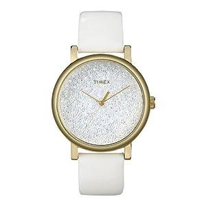 Timex Originals T2P278 Ladies White Crystals Classic Round Watch