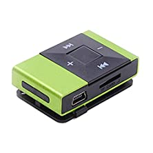 buy Tonsee Mini Usb Clip Digital Mp3 Music Player Support 8Gb Sd Tf Card (Green)