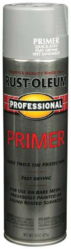 Rust-Oleum 7582838 Professional Primer Spray Paint, Gray Primer, 15-Ounce