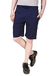 Aventura Outfitters Single Jersey Shorts Navy Blue with Red Stripes & Two White Piping - XL (AOSJSH307-XL)