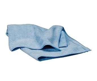 "Waxie LFK500W Polyester Microfiber Terry Cloth, 16"" Length x 16"" Width, Blue (Case of 180)"