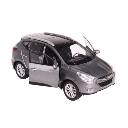 [Hyundai Toys Collation] Mini Car 1:38 Scale Unique Miniature Diecast Model 1-pc For 2010 2011 2012 2013 Hyundai Tucson ix35 (Sleek Silver)
