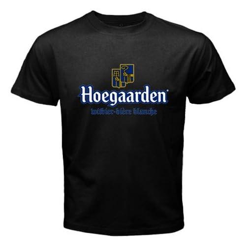 Amazon.com: Hoegaarden Belgium Beer Logo New Black T-shirt