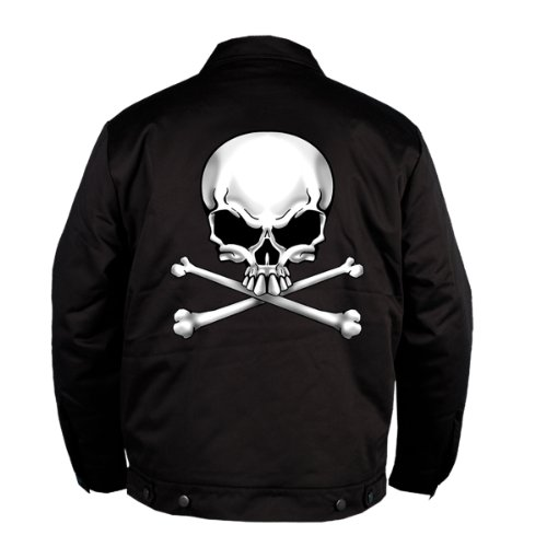 Hot Leathers Skull and Bones Mechanic