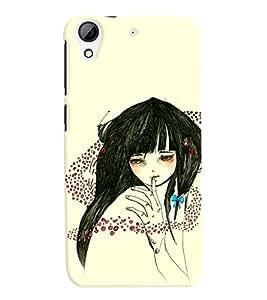 Fuson Sweet Girl Back Case Cover for HTC DESIRE 626 - D3827