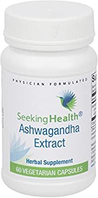 Ashwaghanda Extract | Stress Support | Pure, Natural Ashwaghanda | Free Of Common Allergens | 60 Easy-To-Swallow Vegetarian Capsules | Seeking Health