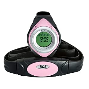Pyle Sports PHRM38PN Heart Rate Monitor Watch with Minimum, Average Heart Rate, Calories, Target Zones, Pink