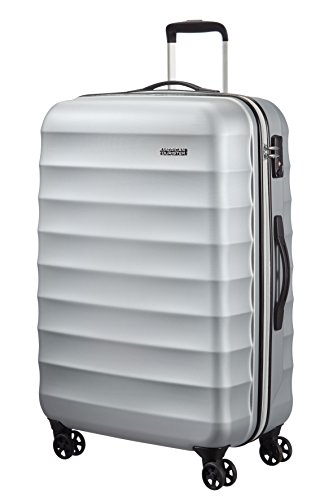American Tourister Palm Valley Spinner 77/28, Valigia, Litri 88.7, Metallic Silver