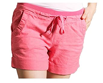 The West Summer Cotton Roll Elastic Drawstring Pants Shorts Female