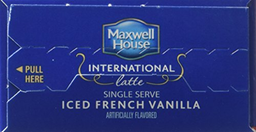 Maxwell House International Coffee French Vanilla Iced Latte Singles, 3.42-Ounce Boxes (Pack of 8)