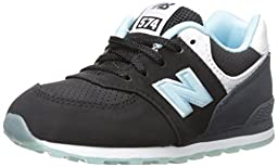 New Balance KL574 State Fair Running Shoe (Infant/Toddler), Black/Blue, 2 M US Infant