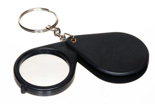 SE Folding Keychain 8x Magnifier w/ 1.25in Glass Lens