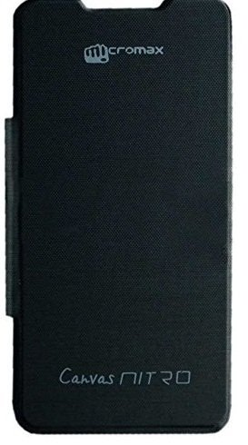 Dashmesh Shopping Premium Durable Flip Cover Case for Micromax CANVAS Nitro A310/A311 Black