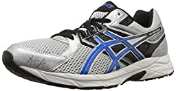 ASICS Men\'s Gel Contend 3 Running Shoe, Silver/Electric Blue/Black, 9.5 M US