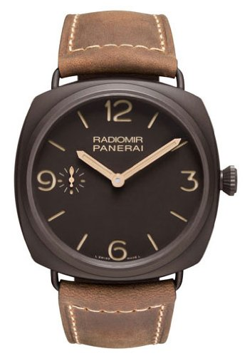 Panerai Radiomir Composite Brown Dial Brown Leather Mens Watch PAM00504