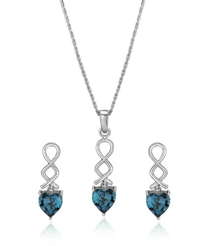 Eclat Rhodium Brass Alloy Pendant Set For Women(613129RM)