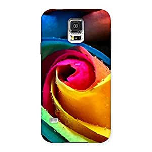 Cute Rose Droplets Multicolor Back Case Cover for Samsung Galaxy S5