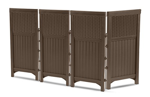Suncast FSW4423 4 Panel Resin Wicker Outdoor Screen (Outdoor Privacy Panels compare prices)