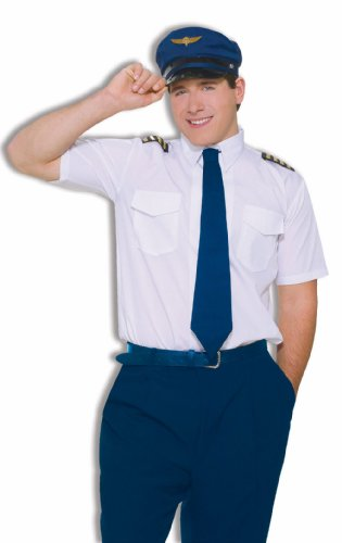 Pilot Costume Co-Pilot Adult Costume Kit Mile High Airlines Costume Set 61944