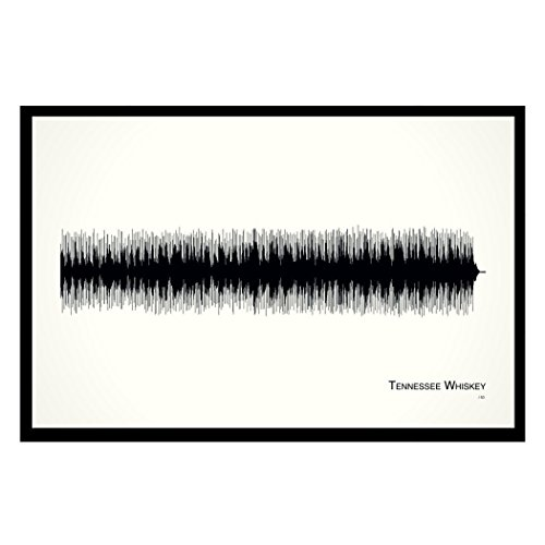 Tennessee Whiskey - 11x17 Framed Soundwave print (Whiskey Merchandise compare prices)