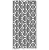 36'' X 72'' (90cmx 180cm) Custom Classic Grey and White Quatrefoil Polyester Fabric Shower Curtain