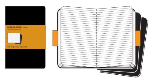 Moleskine Cahier Black Set of 3 Ruled (Cahier-Black; Ruled)