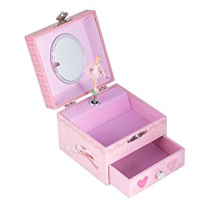 Square ballerina musical jewelry box plays for Amazon ballerina musical jewelry box
