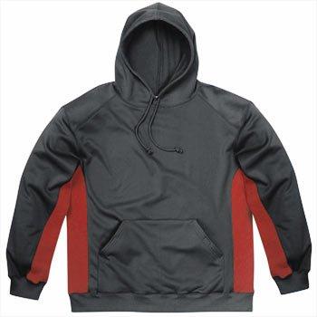 Badger BT5 Tech Fleece Hood - SIZE: 3XL, COLOR: Black/Scarlet