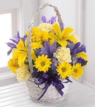 FTD Flowers Spirit of Spring Basket-13 Stems – Beautiful Easter Flowers – Delivered by a Local Florist
