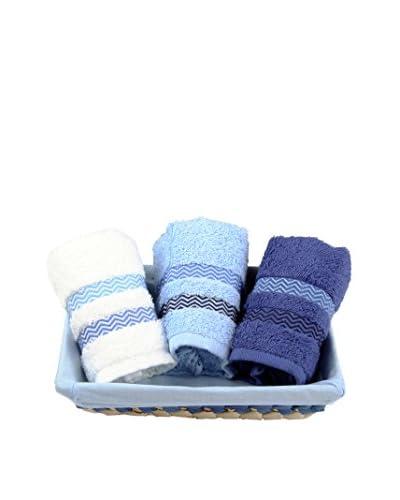 Homemania Set Toalla 3 Piezas Candy Azul 30 x 50 cm