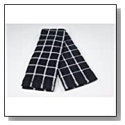 BLEACHSAFE HOME Kitchen Towels - BLACK W/ WHITE