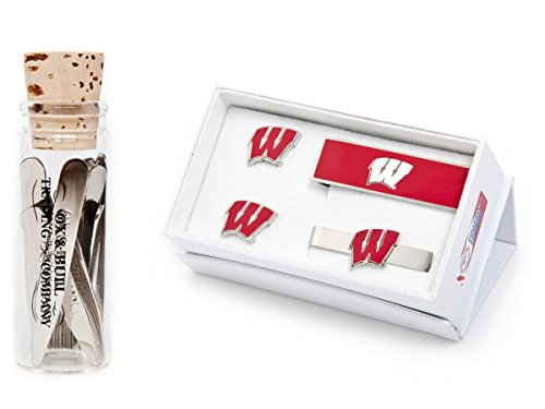 University Of Wisconsin Badgers 3-Piece Gift Set With 12 Complimentary Collar Stays