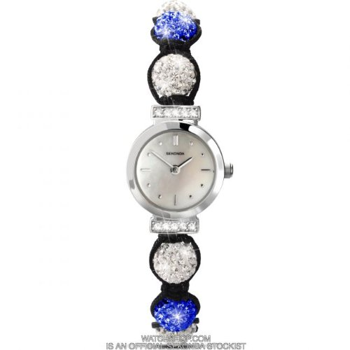 Sekonda Crystalla Blue & White Crystal Beads Ladies Watch 4732