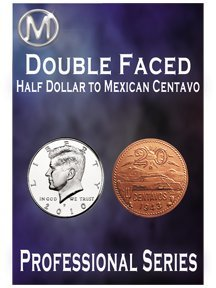 Double Faced Half Dollar Mexican Centavo