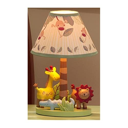 zoofari kids lamp with shade zoofari nursery lamp with shade by lambs. Black Bedroom Furniture Sets. Home Design Ideas