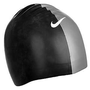 Nike Performance - Geformte Badekappe - Silikon - Schwarz/Silber - Einheitsgröße