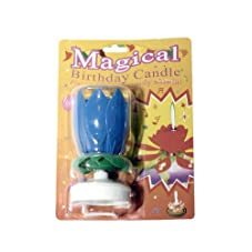 North America Distributor Group Magical Singing Birthday Candle, 3-Pack, Blue