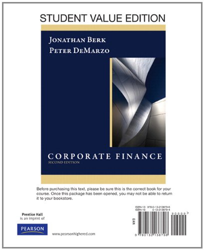 Corporate Finance, Student Value Edition plus...