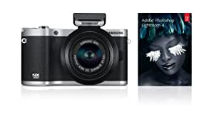 Samsung SMART NX300 Compact System Camera with 20-50mm Lens - Black (20.3 MP, CMOS Sensor) 3.3 inch Amoled
