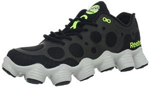 Reebok Men's ATV19+ Trail Running Shoe,Black/Neon Yellow/Steel,12.5 M US