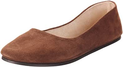 French Sole FS/NY Women's Sloop Ballet Flat, Chocolate Suede, 5 M US