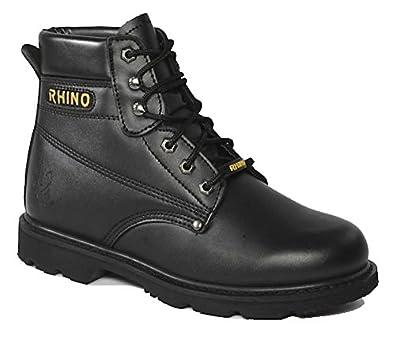 60S21 - Rhino 6 Inch Steel Toe Safety Work Boot - Black (5)