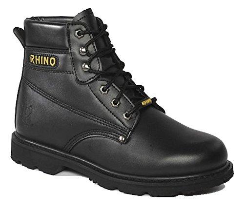 60S21 Rhino 6 Inch Steel Toe Safety Work Boot - Black