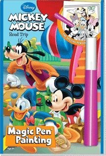 Disney Road Trip Mickey Mouse Magic Pen Painting Book - 1
