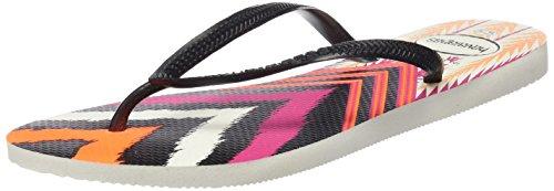 Havaianas HAV SLIM TRIBAL - Infradito Donna, Multicolore (BLACK 0128), 37/38 EU