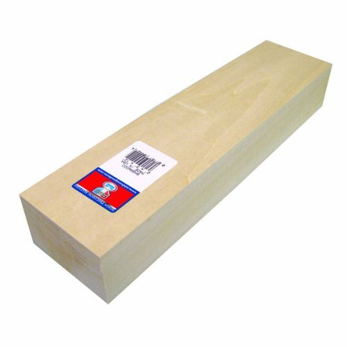 Midwest Products 4422 Micro-Cut Quality Basswood Block, 2 By 4 By 12-Inch